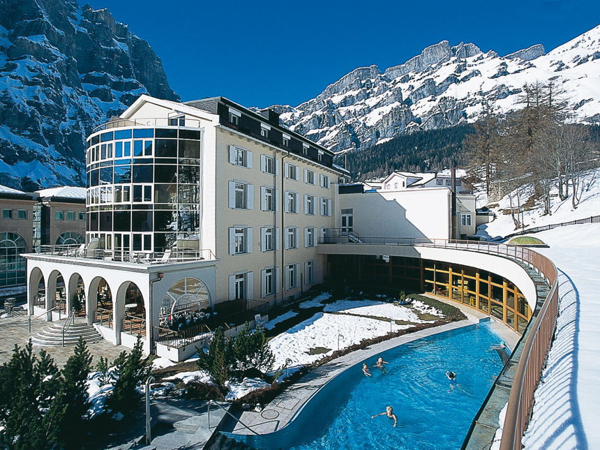 Thermal Hotels & Walliser Alpentherme 4*, г.Лейкербад, Швейцария